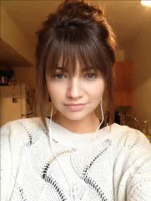 should i get bangs for my hair to hide wrinkles 25 best ideas about bangs long hair on pinterest long