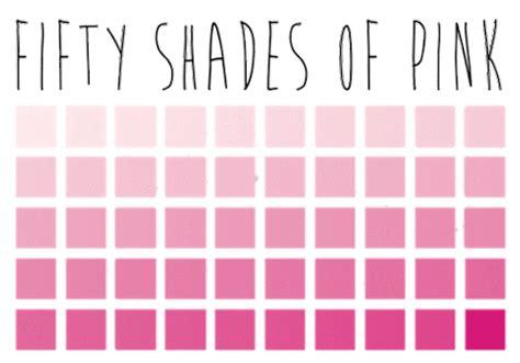 shades of pink 50 shades of pink