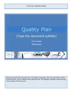 quality plan template getprojecttemplates