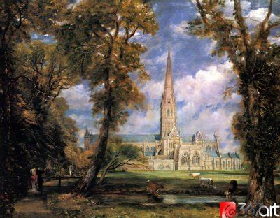 by john constable salisbury cathedral john constable salisbury cathedral from the meadows 世界名