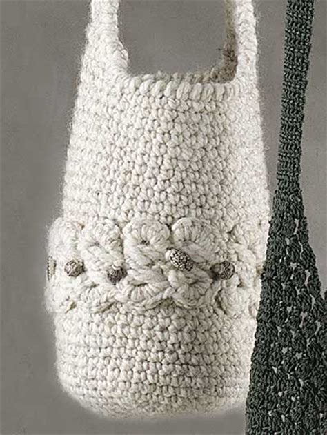 crochet lace bag pattern broomstick lace bag