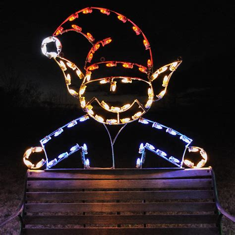 a large collection of outdoor christmas light displays 14