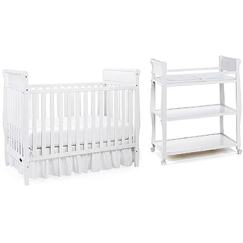 Graco Convertible Crib With Changing Table Graco Classic Convertible Crib W Mattress Changing Table Bundle White Nursery