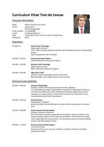 Curriculum Vitae Chemistry by Cv Tom De Leeuw Pdfsr Com