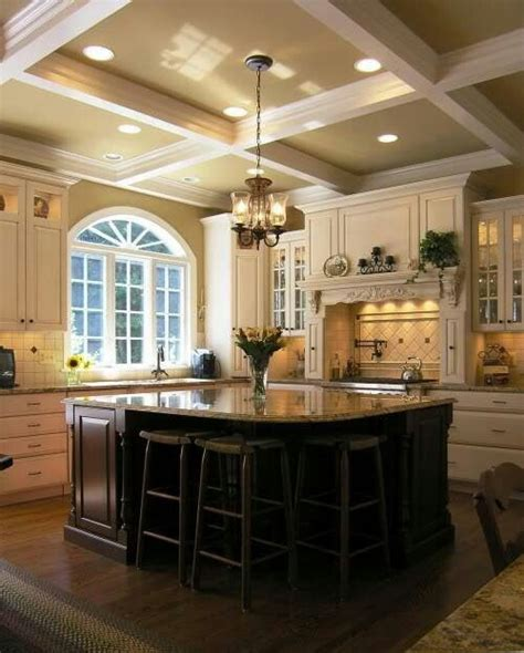 Love The Ceiling For The New House Pinterest In The | coffered ceiling home kitchen pinterest