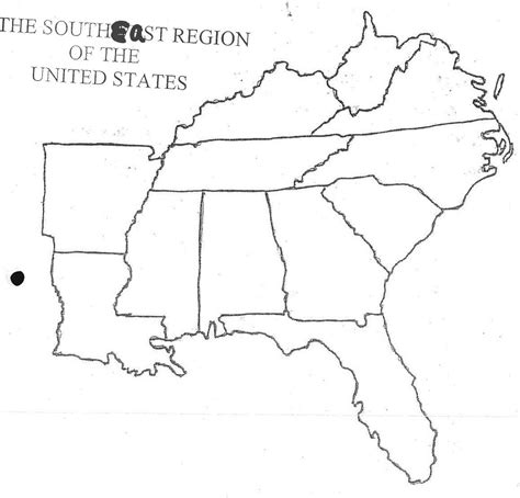 map southern united states region southeast us map blank southeast us states blank map usa