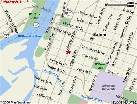 map of salem oregon downtown salem oregon map