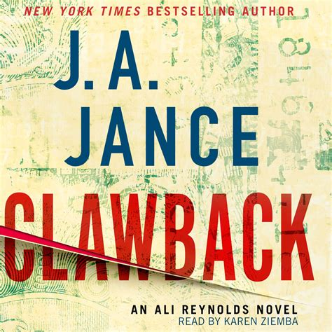 overboard an ali novel ali series books clawback audiobook by j a jance ziemba official