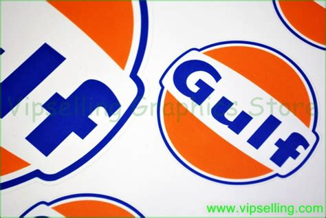 gulf racing logo gulf le mans large 200mm racing bonnet hood decals