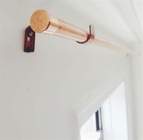 copper pipe curtain rod diy copper pipe curtain rod and bracket anne zeygerman