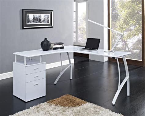 white modern computer desk white computer desks for home office