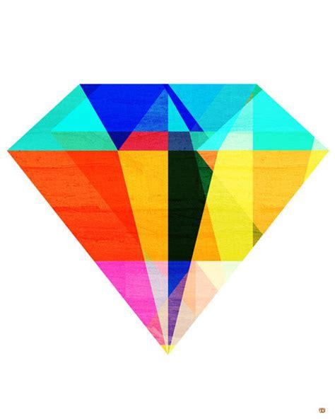 biography of artist diamond jewel tone ii geometric diamond art print 5x7 by thepairabirds