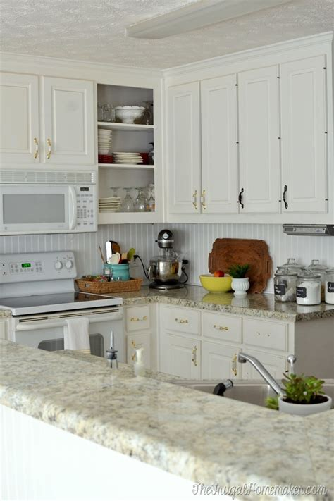 How To Install Beadboard Backsplash by How To Install A Diy Beadboard Backsplash Kitchen Makeover
