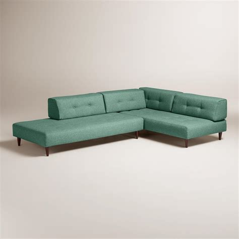 upholstered sectional sofa chunky woven albin upholstered sectional sofa world market