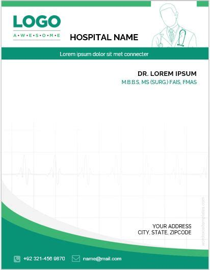letterhead template for word 2003 doctor letterhead templates for ms word word excel