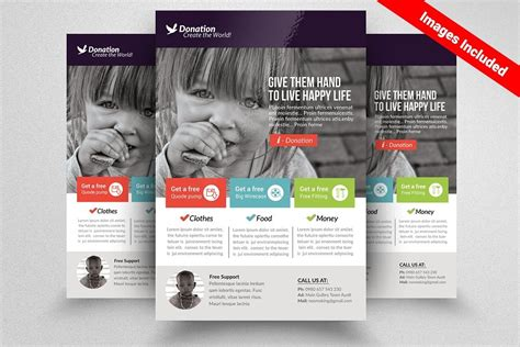 16 Designs For Donation Flyer Donation Flyer Template