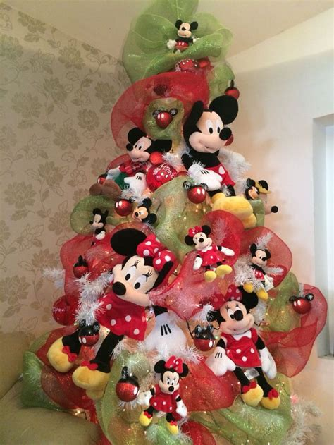 decoraci 243 n navide 241 a con tema mickey mouse
