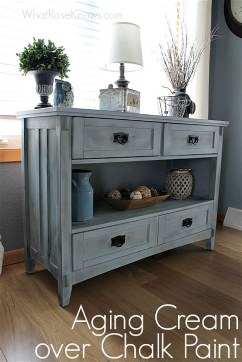 How To Paint A Finished Dresser by Aging Finish Chalk Paint What Knows
