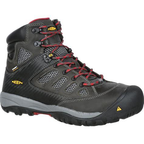 keen composite toe shoes keen tucson mid steel toe waterproof work shoe k1009180