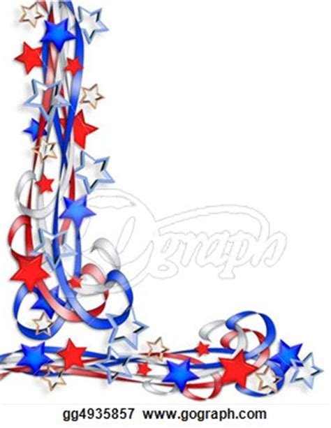 which corner do sts go in patriotic border stars and stripes stock clipart gg4935857