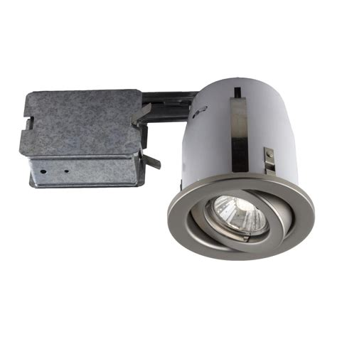 Bazz 300 Series 4 In Satin Recessed Halogen Interior Halogen Kitchen Light Fixtures