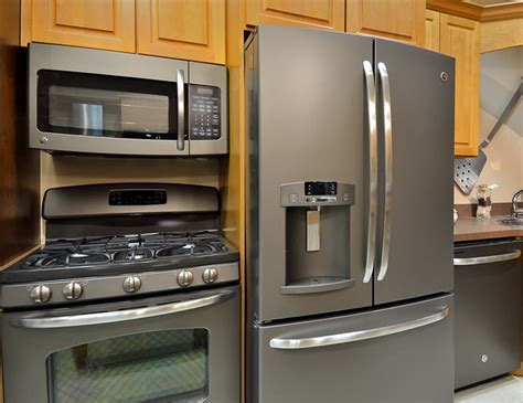 kitchen appliance finishes ge new slate finish appliances kitchen other by