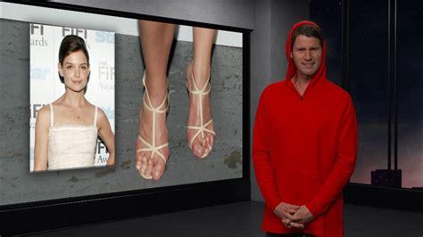 celebrity video clip celebrity feet tosh 0 video clip comedy central