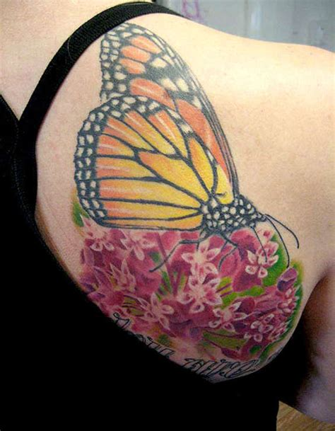 clear vision tattoo 27 pleasant butterfly shoulder tattoos and designs