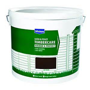 water based shed fence treatment fence paint wickes