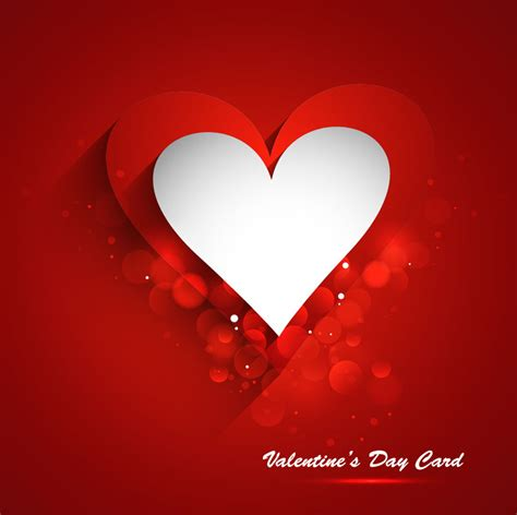 valentine s day card template 2 vector sources