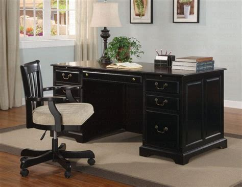 Black Office Desk For Home Black Executive Desk Home Office Furniture Office Furniture