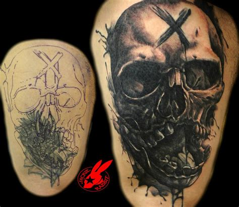 tattoo eye cover up skull cover up tattoo by jackie rabbit by jackierabbit12