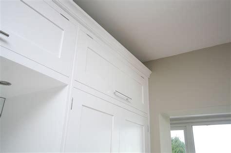 Wardrobe Cornice by Detail Of Wardrobe Top Box And Cornice Door Closed
