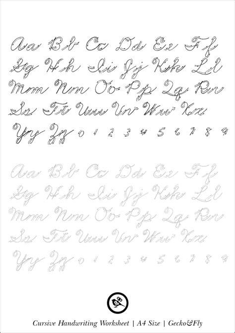 cursive letters chart beautiful print handwriting alphabet 1174