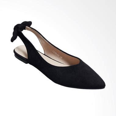 Sepatu Rene Caovilla Nik Flat jual produk sepatu hitam wanita harga promo diskon blibli