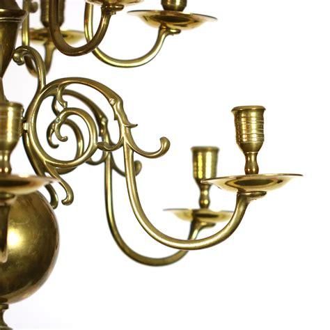 12 light brass chandelier two tiered twelve light brass chandelier 19th century