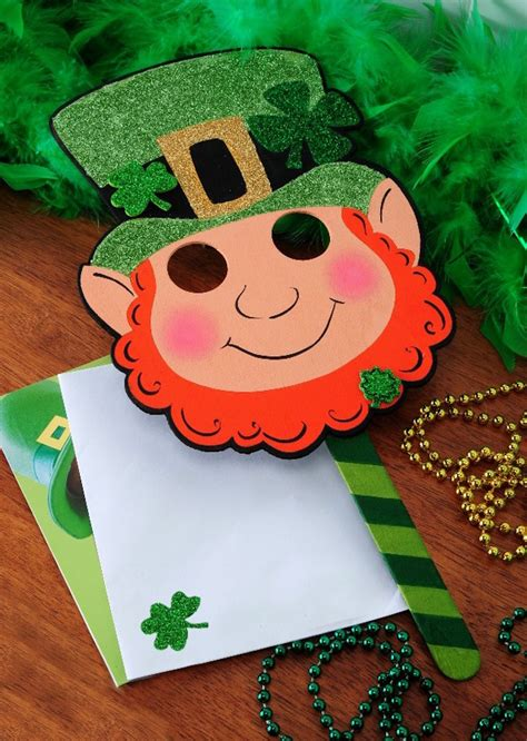 printable leprechaun mask 20 st patrick s day activities for kids