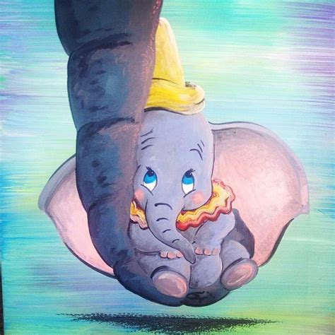kinderzimmer bild dumbo dumbo on canvas acrylic painting disney
