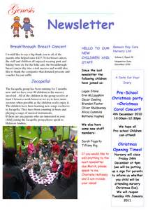 Childcare Newsletter Templates by Childcare Newsletter Exles Book Covers