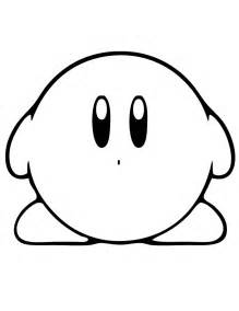 kirby coloring pages kirby standing coloring page h m coloring pages