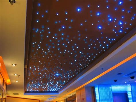 Fiber Optic Light Fixtures 5w Wirless Remote Fiber Optic Ceiling Lights For Starry Sky Lighting