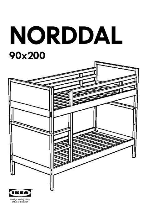 norddal bunk bed norddal bunk bed frame black ikea united kingdom ikeapedia