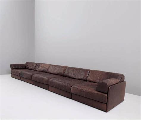 brown leather modular sofa de sede ds 76 modular sofa in dark brown leather for sale