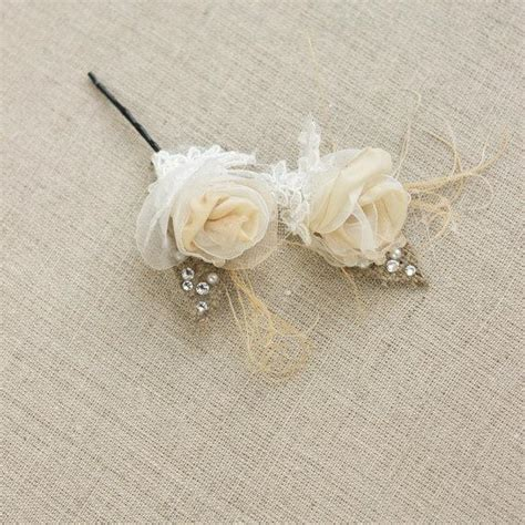 Small Dot Hair Accessories For Weddings by Burlap Hairpiece Small Hair Flower Rustic Burlap Vintage