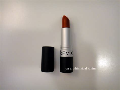 Lipstik Revlon Matte 007 on a whimsical whim revlon matte lipstick 007 in the