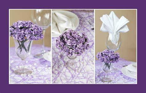 Tischdeko Hochzeit Violett by Deko Ideen Tischdeko Lila
