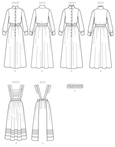 free sewing pattern victorian apron victorian edwardian bib apron servant dress sewing pattern