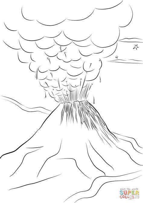 volcano coloring pages paricutin volcano eruption coloring page free printable