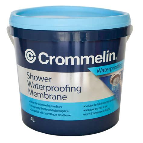 Waterproof Shower Membrane by Crommelin 4l Shower Waterproofing Membrane Bunnings