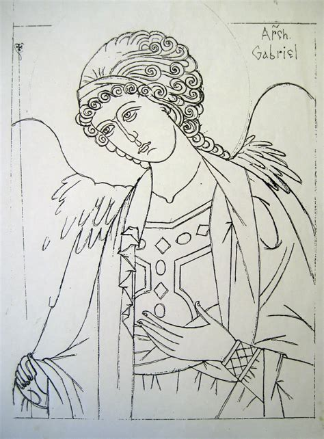 Gabriel Coloring Pages And Gabriel Coloring Page
